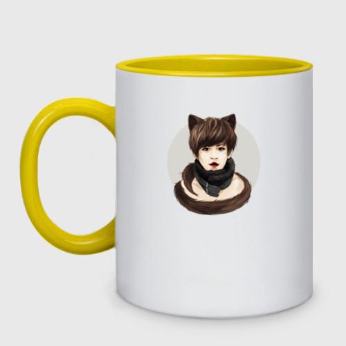 Кружка двухцветная EXO Kitty Фото 01