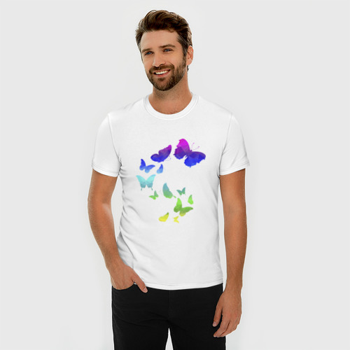 Мужская футболка премиум  Фото 03, Лето. Бабочки