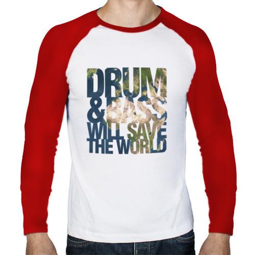 Мужской лонгслив реглан  Фото 01, Drum&Bass Will Save The World