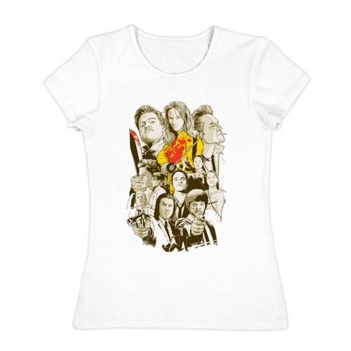 Женская футболка хлопок Тарантино