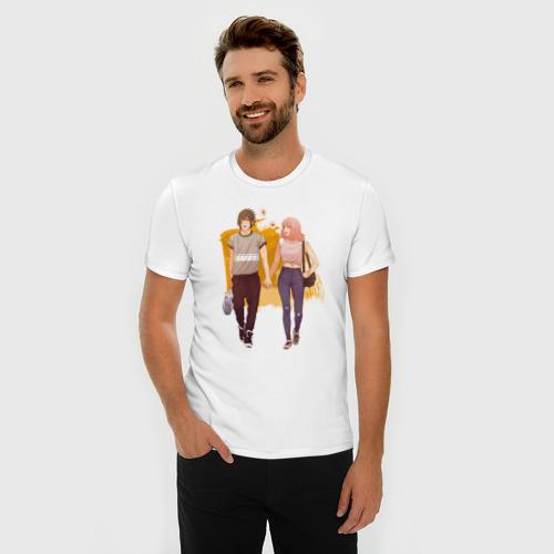 Мужская футболка премиум  Фото 03, Саске и Сакура