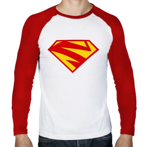 Мужской лонгслив реглан  Фото 01, Supergirl