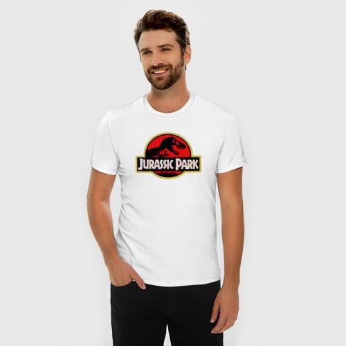Мужская футболка премиум  Фото 03, Jurassic park