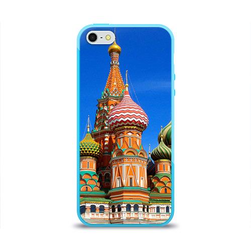 Чехол для Apple iPhone 5/5S силиконовый глянцевый Храм Василия Блаженного