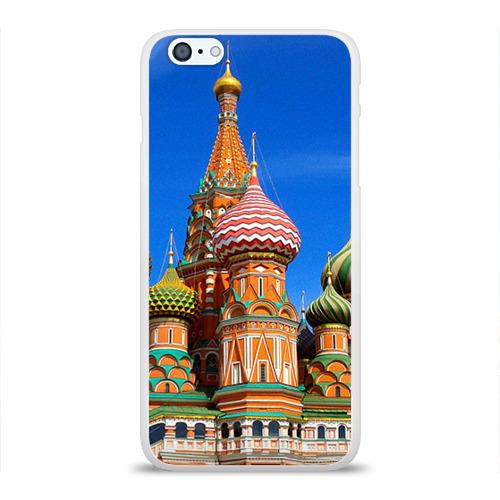 Чехол для Apple iPhone 6Plus/6SPlus силиконовый глянцевый Храм Василия Блаженного