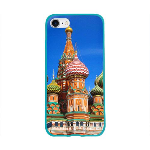 Чехол для Apple iPhone 8 силиконовый глянцевый Храм Василия Блаженного