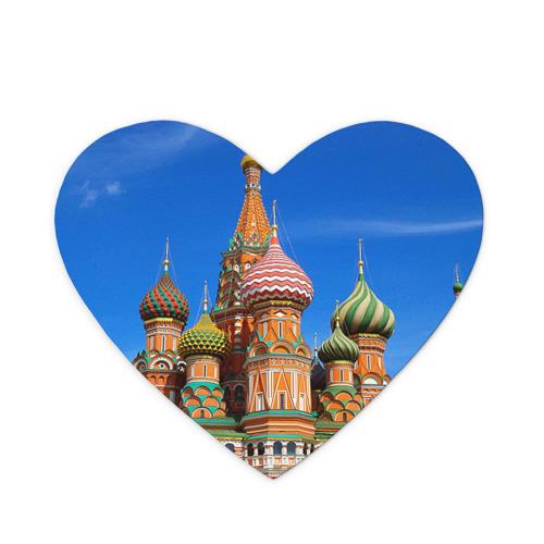 Коврик для мыши сердце Храм Василия Блаженного