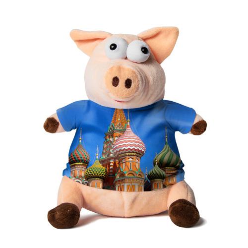 Свинка в футболке 3D Храм Василия Блаженного