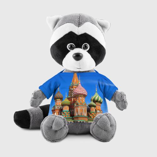 Енотик в футболке 3D Храм Василия Блаженного