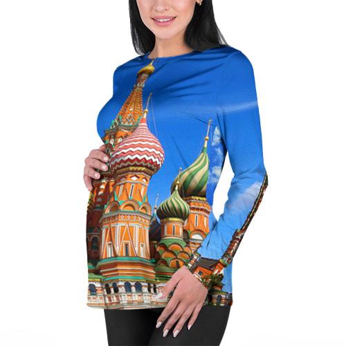 Женский лонгслив 3D для беременных Храм Василия Блаженного