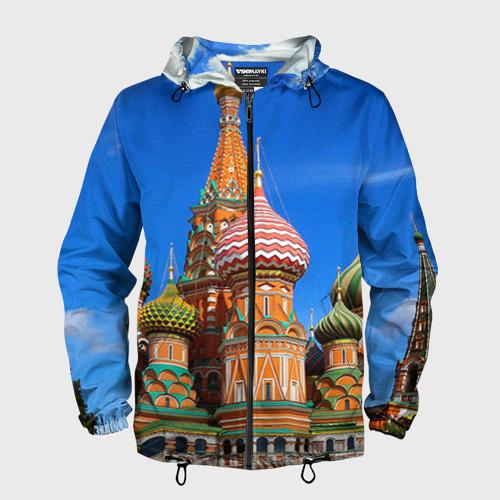 Мужская ветровка 3D Храм Василия Блаженного