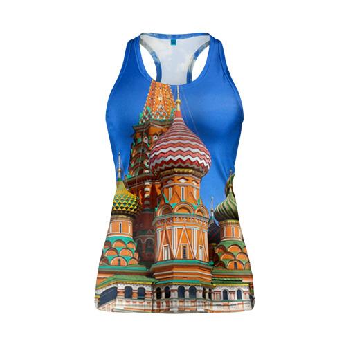 Женская майка 3D спортивная Храм Василия Блаженного