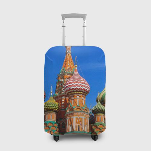 Чехол для чемодана 3D Храм Василия Блаженного