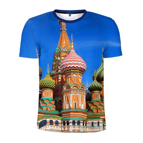 Мужская футболка 3D спортивная Храм Василия Блаженного