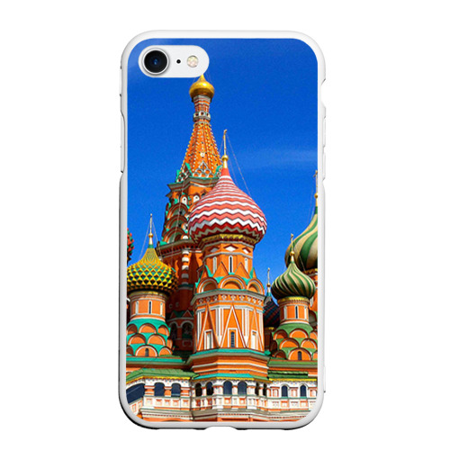 Чехол для iPhone 7/8 матовый Храм Василия Блаженного Фото 01