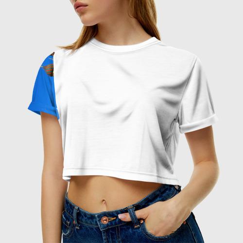Женская футболка 3D укороченная Храм Василия Блаженного