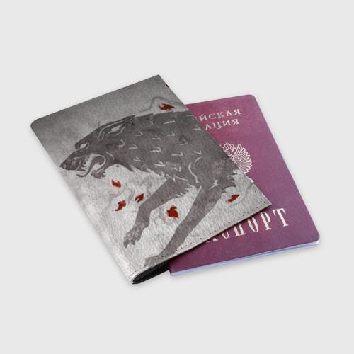 Обложка для паспорта матовая кожа  Фото 03, Волк Старков
