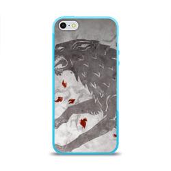 Чехол для Apple iPhone 5/5S силиконовый глянцевыйВолк Старков