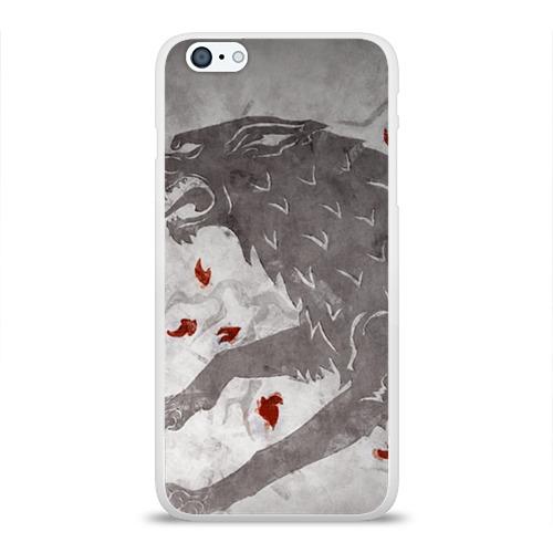 Чехол для Apple iPhone 6Plus/6SPlus силиконовый глянцевый Волк Старков