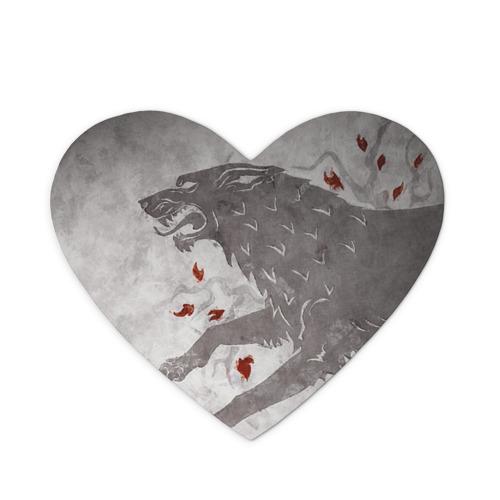 Коврик для мыши сердце Волк Старков