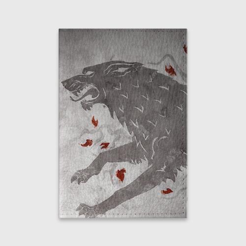 Обложка для паспорта матовая кожа  Фото 01, Волк Старков