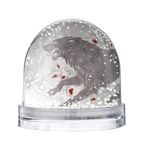 Водяной шар со снегом Волк Старков
