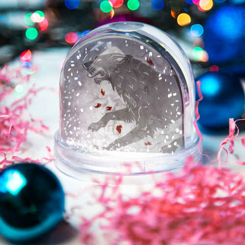 Водяной шар со снегом  Фото 03, Волк Старков