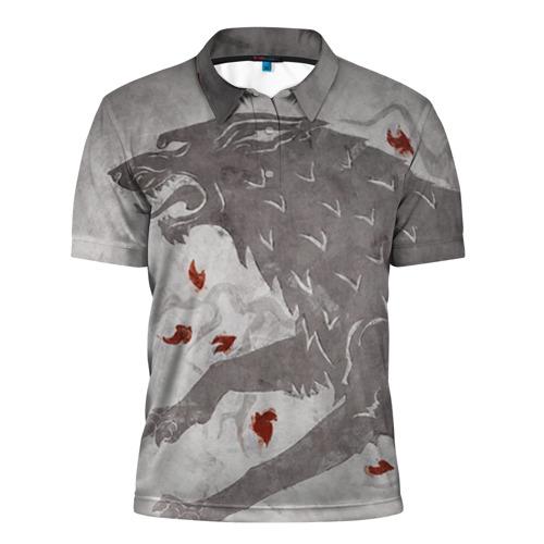 Мужская рубашка поло 3D Волк Старков