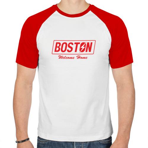 Мужская футболка реглан  Фото 01, Fallout Boston Red