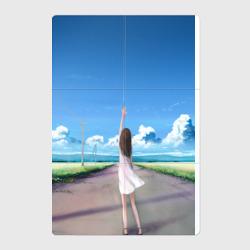Девушка с поднятой рукой