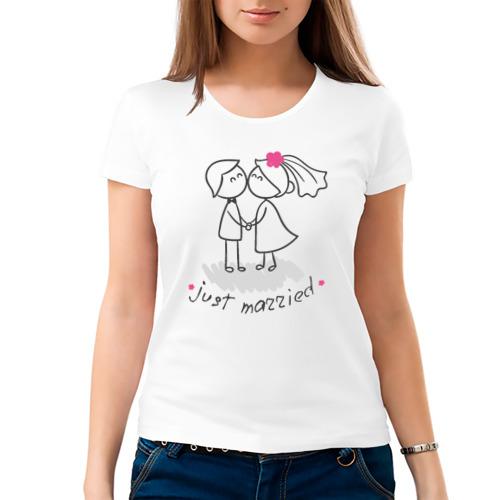 Женская футболка хлопок  Фото 03, Молодожены