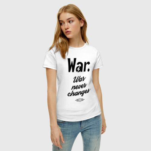 Женская футболка хлопок Fallout - War never changes Фото 01