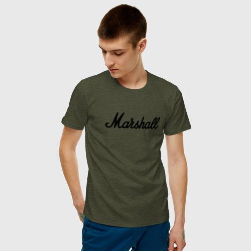 Мужская футболка хлопок Marshall logo Фото 01