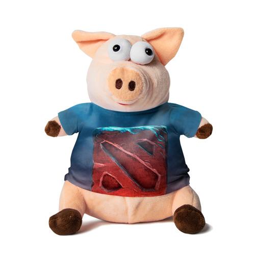 Свинка в футболке 3D Dota