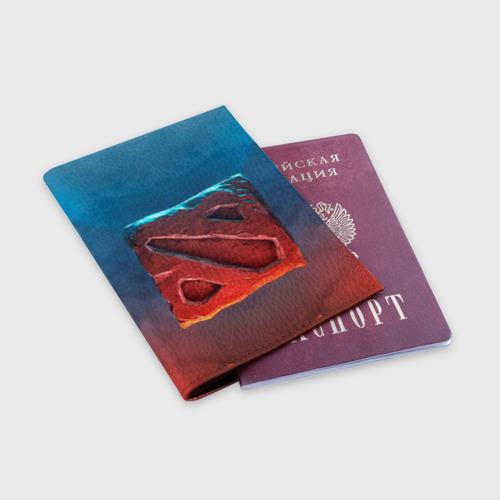 Обложка для паспорта матовая кожа Dota Фото 01