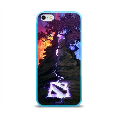 Чехол для Apple iPhone 5/5S силиконовый глянцевый Dota