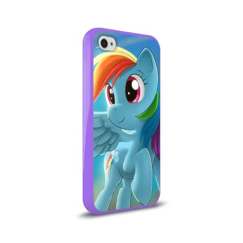Чехол для Apple iPhone 4/4S силиконовый глянцевый My littlle pony Фото 01