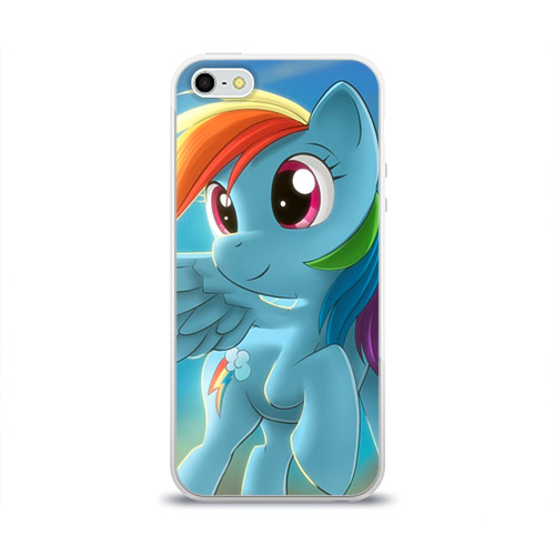 Чехол для Apple iPhone 5/5S силиконовый глянцевый My littlle pony