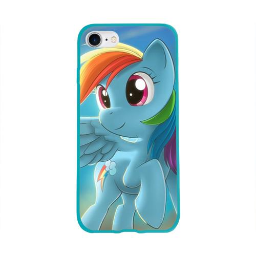 Чехол для Apple iPhone 8 силиконовый глянцевый My littlle pony