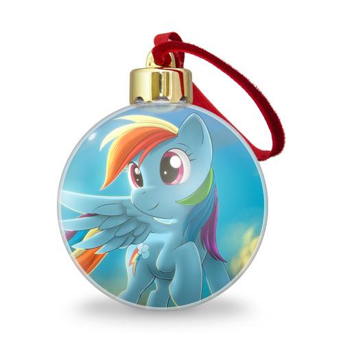Ёлочный шар с блестками  Фото 01, My littlle pony