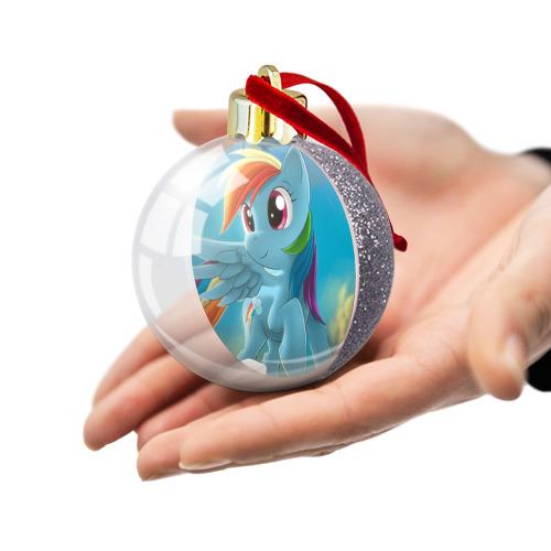 Ёлочный шар с блестками  Фото 03, My littlle pony