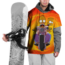 Накидка на куртку 3DСимпсоны на байке