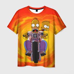 Мужская футболка 3DСимпсоны на байке