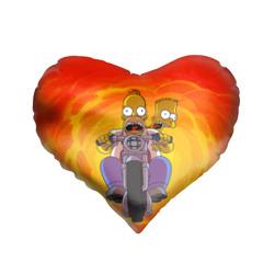 Подушка 3D сердцеСимпсоны на байке