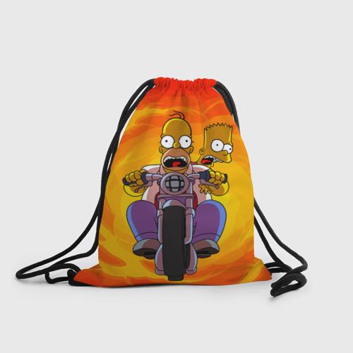 Рюкзак-мешок 3D Симпсоны на байке One фото
