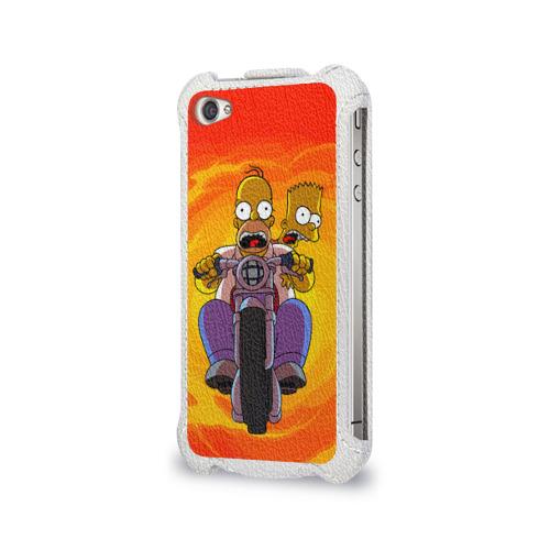 Чехол для Apple iPhone 4/4S flip  Фото 03, Симпсоны на байке