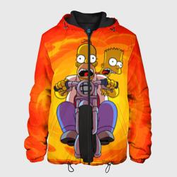Мужская куртка 3DСимпсоны на байке