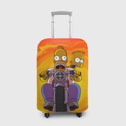 Чехол для чемодана 3DСимпсоны на байке