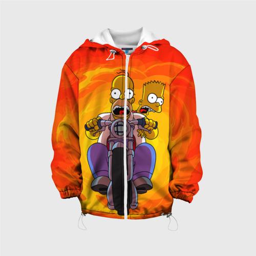Детская куртка 3D Симпсоны на байке