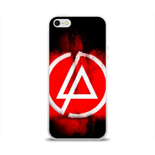 Чехол для Apple iPhone 5/5S силиконовый глянцевый Linkin Park